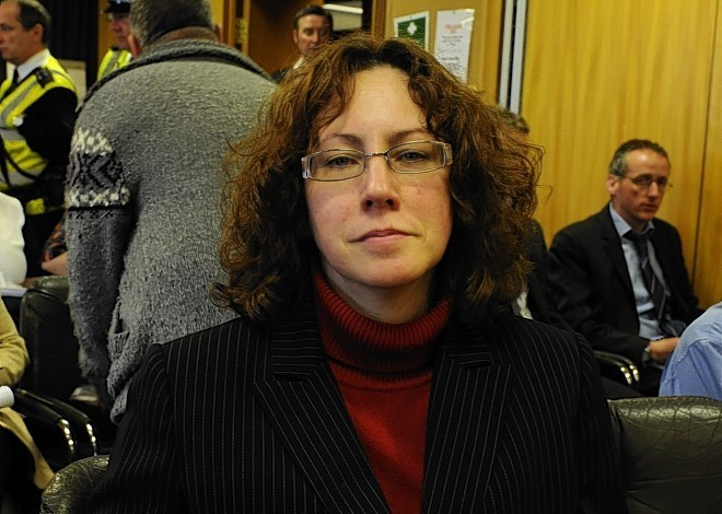 Protestor Suzanne Kelly