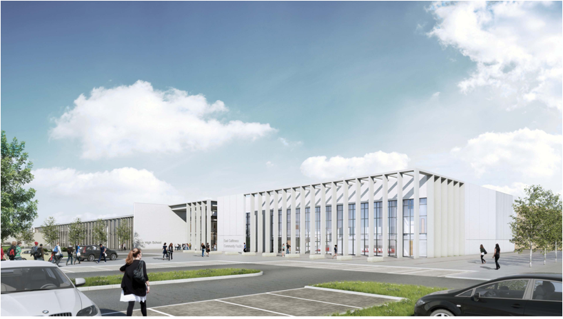 Artist impression of Wick Community Campus.
