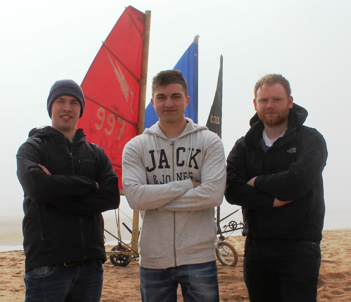 The third year engineering students from RGU took to Balmedie Beach in vessels specially-crafted for the shores in what was the culmination of a two month land yacht project.