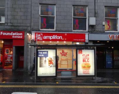 Amplifon shop on Union Street, Aberdeen.