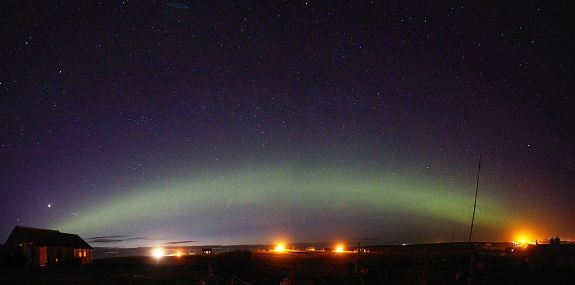 An aurora rainbow captured from the Isle of Lewis by photographer John Gray.
