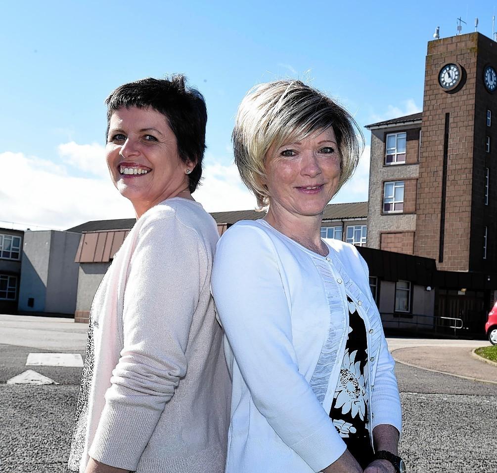 Pamela and Brenda met at Fraserburgh Academy 40 years ago. Photo by  Duncan Brown