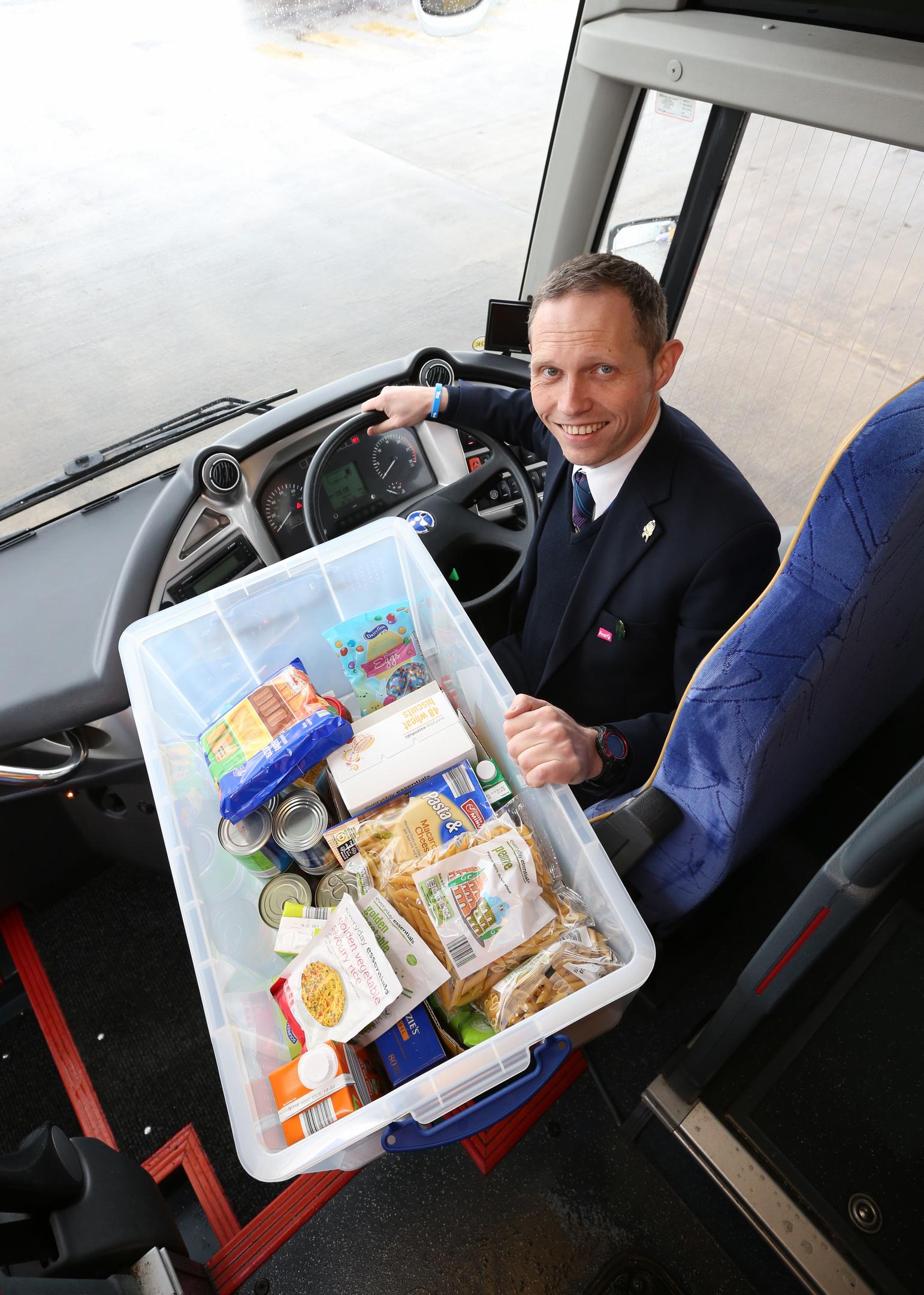 Ian Hay donated the food