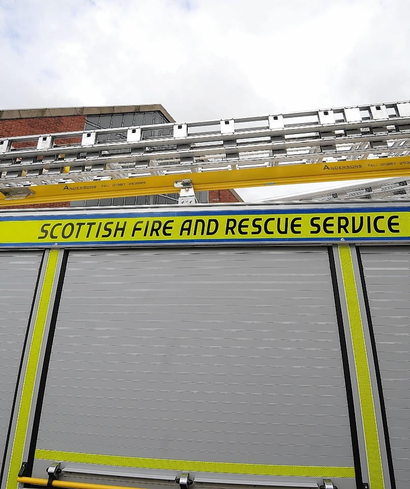 Firefighters from Nairn battled the flames this evening