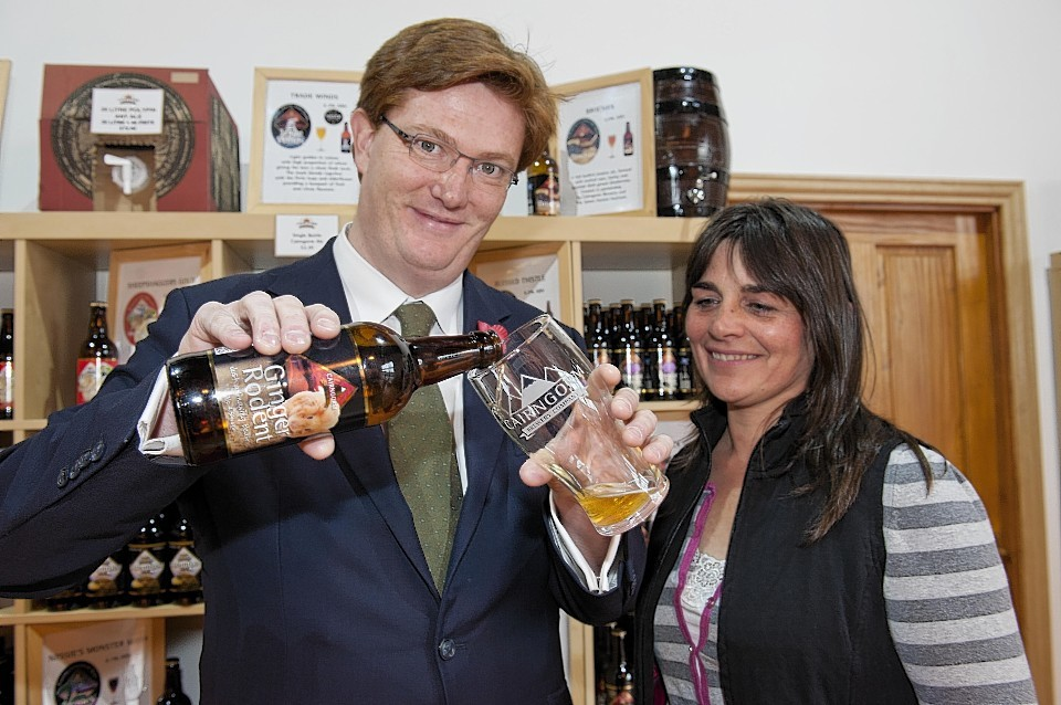 Danny Alexander at the Cairngorm Brewery in Aviemore: Fact 9: In the Middle Ages beer was consumed more than water as the alcohol made it safer.