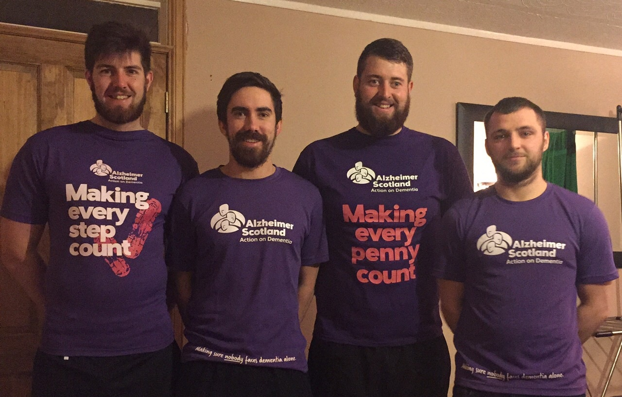Purple Cobras team from left to right: Craig Stronach, Rob Ritchie, James Robertson and James Murdoch
