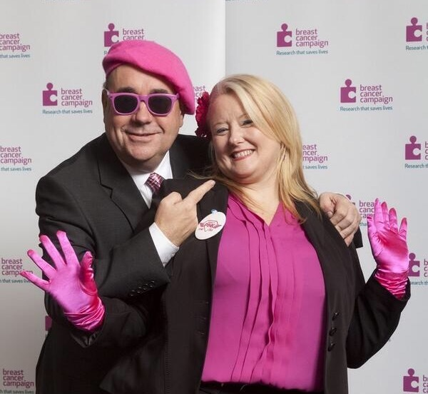 The famous picture of Salmond promoting Wear  it Pink