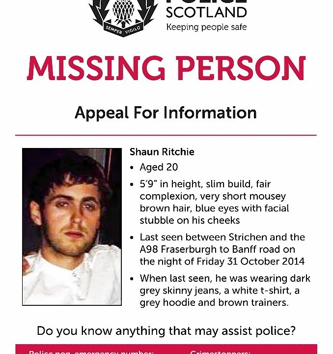 The appeal poster, issued in the hope of discovering more details about the night Shaun disappeared