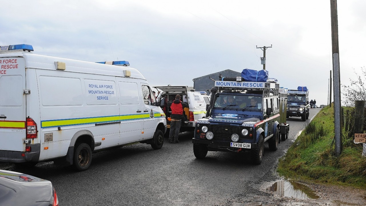 Search vans involved in the search for Shaun Ritchie