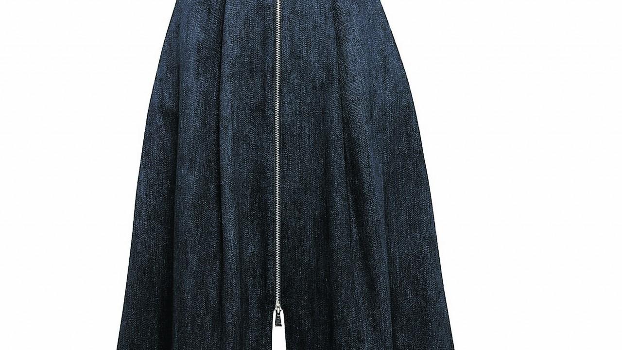 Whistles Zip Through Dark Denim Skirt, £130 (www.johnlewis.com)