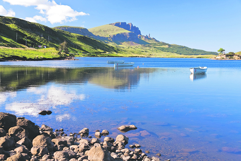 Skye is particularly famous for its mountain scenery