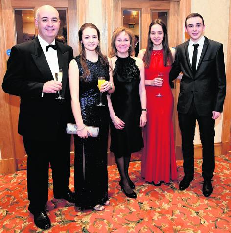 Duncan MacKenzie and Kim, Avril and Jill Paton-MacKenzie with Jake Bernardi