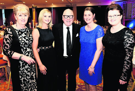 Reay Ross, Kayren Gill, comedian Andy Cameon, Fiona MacBean and Mags Matheson at the Ross County Annual Dinner