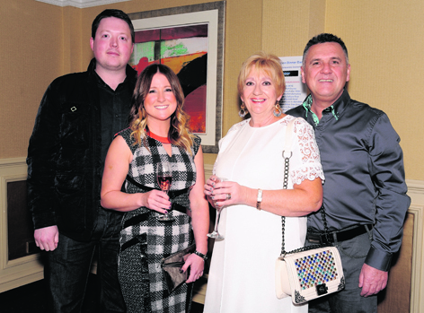 Mark Smith and Leanna Pirie with Caron and Hughie Bryden