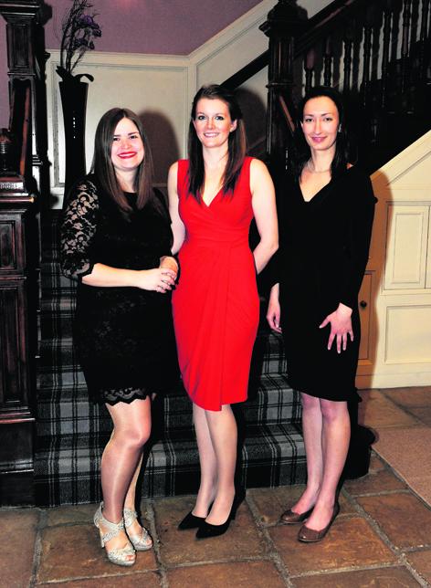 Shelley Woodhead, Alex Reid and Heather Bingham
