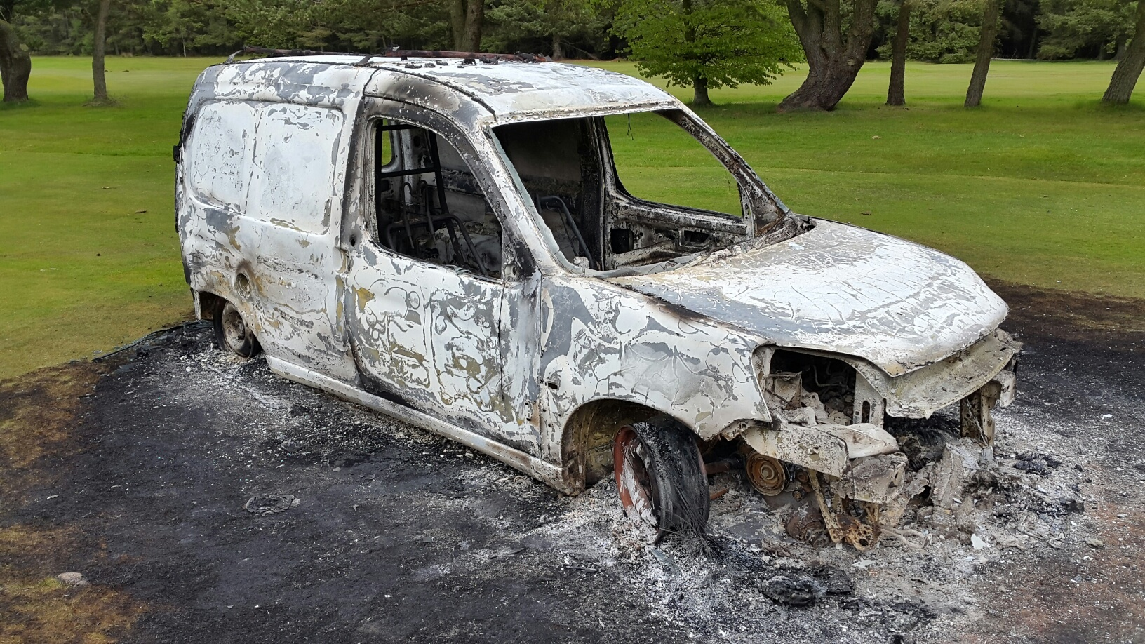 The car was at Hazlehead Golf Club at the time of the fire