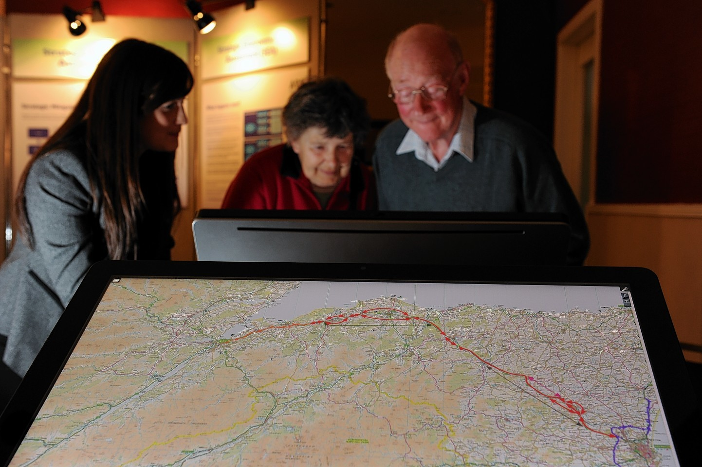 The A96 dualling plans on display in Huntly's Gordon Arms Hotel