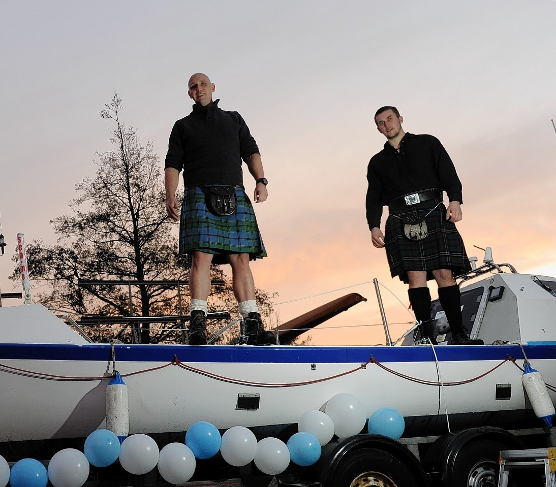 Robert Strachan (left) and Duncan Adamson Brown have embarked on their journey across the Atlantic