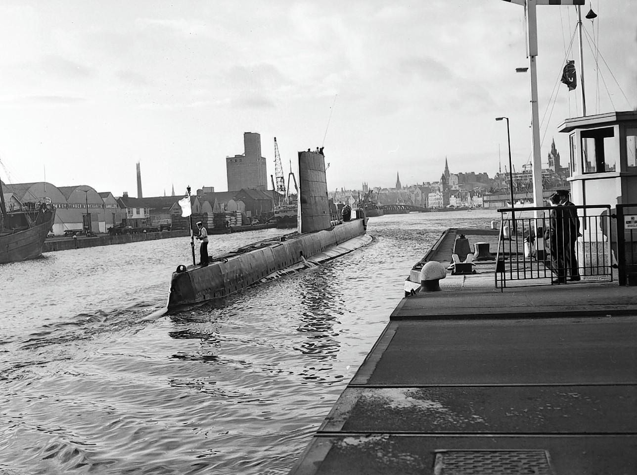 The submarine HMS Finwhale