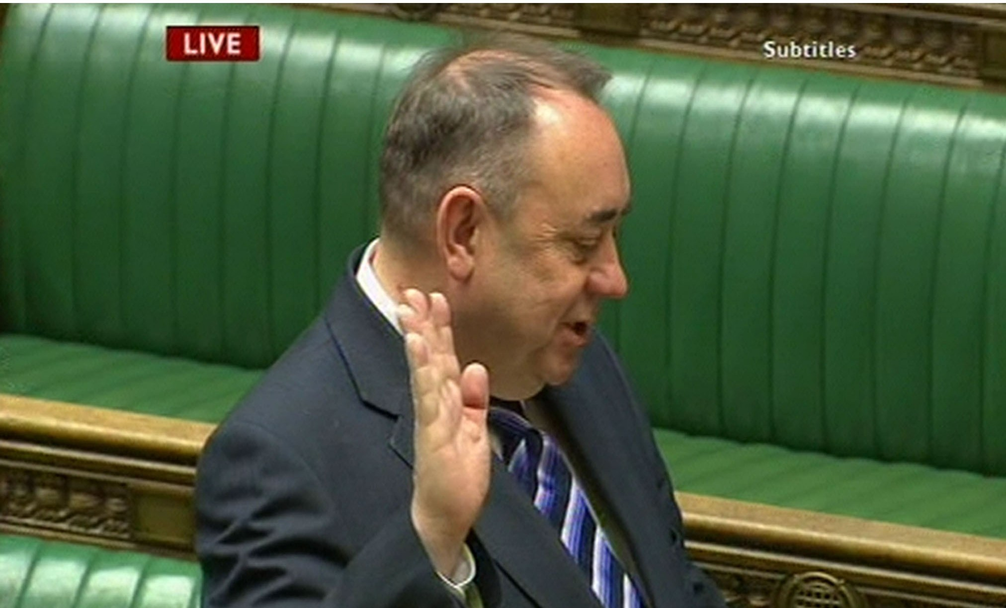 Alex Salmond is sworn in as a MP as he takes his Commons seat.