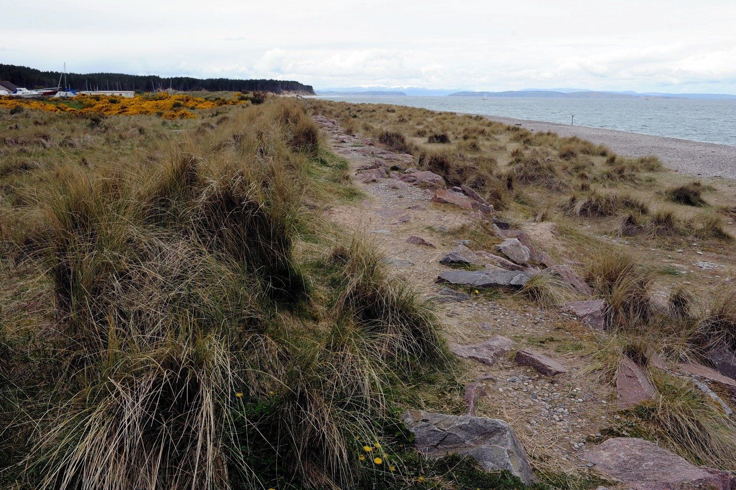 The foreshore at North Beach, Findhorn, where a planning application has been submitted to Moray Council for 30 beach huts..