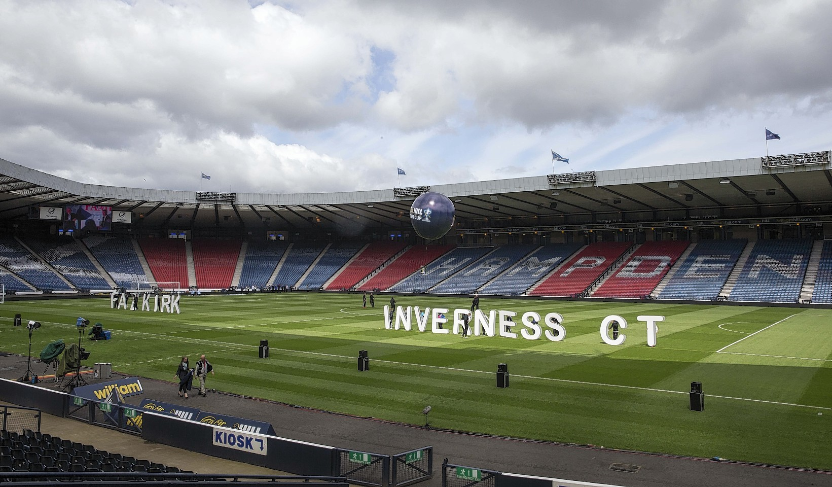 The quiet before the cup final Hampden storm...