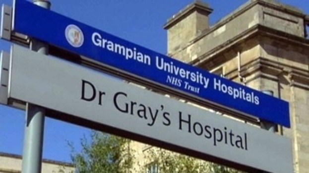 A  man has been taken to Dr Gray's in Elgin to be treated for hypothermia