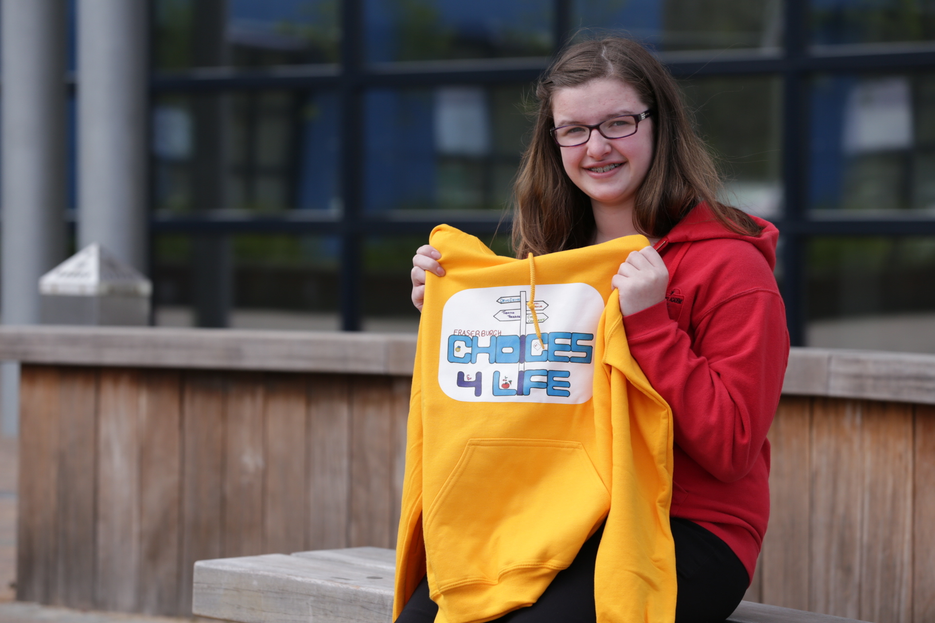 Georgia Morrison, 13,  designed the logo to be used on branding for future events