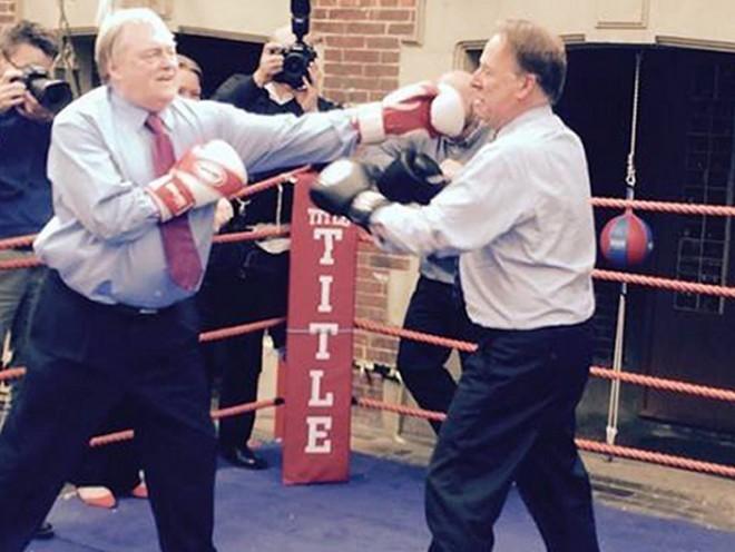 Prescott throws a punch
