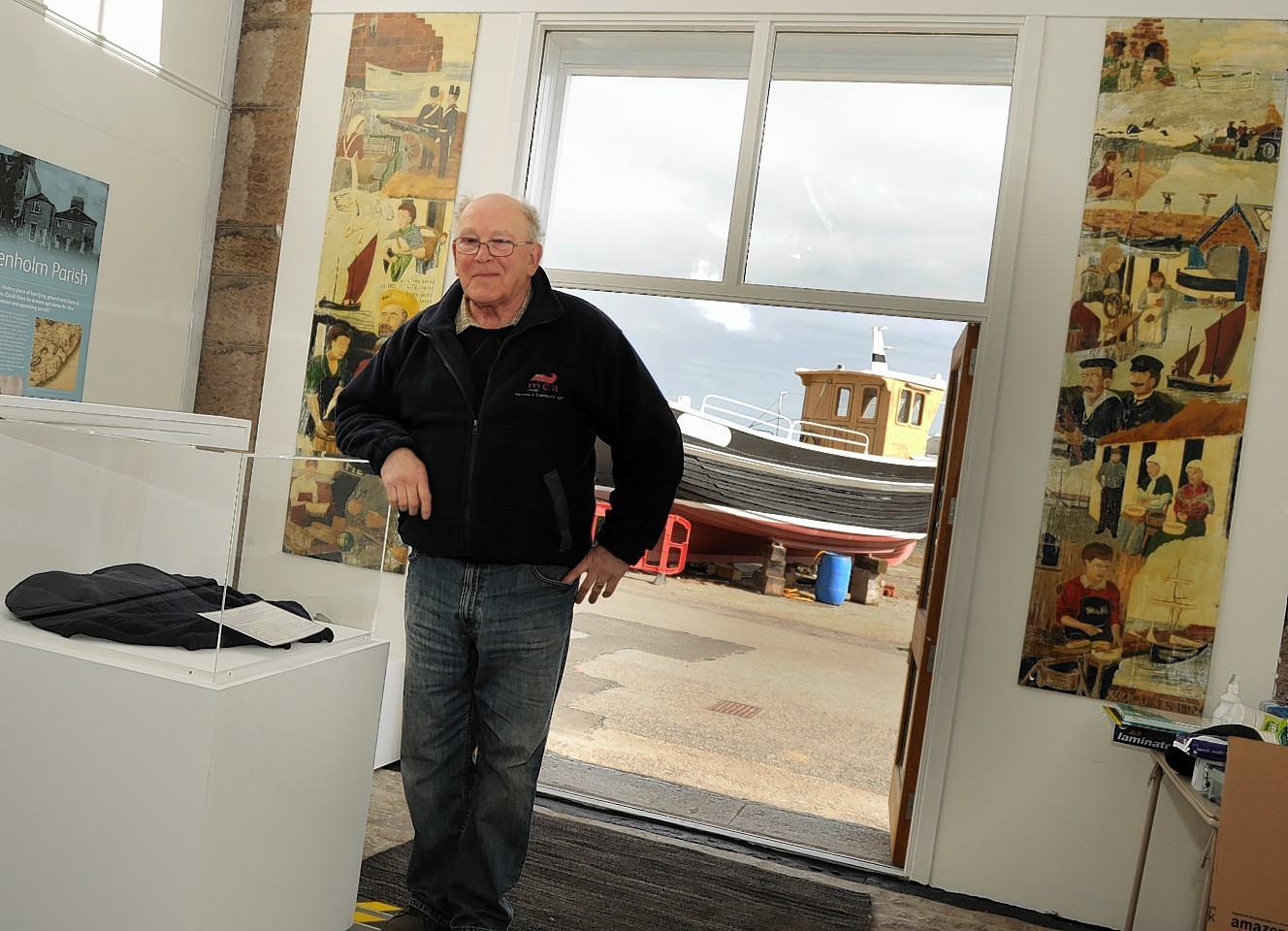 Donald Marr, chairman of Benholm and Johnshaven Heritage Society is looking forward to launching the Lifeboat House