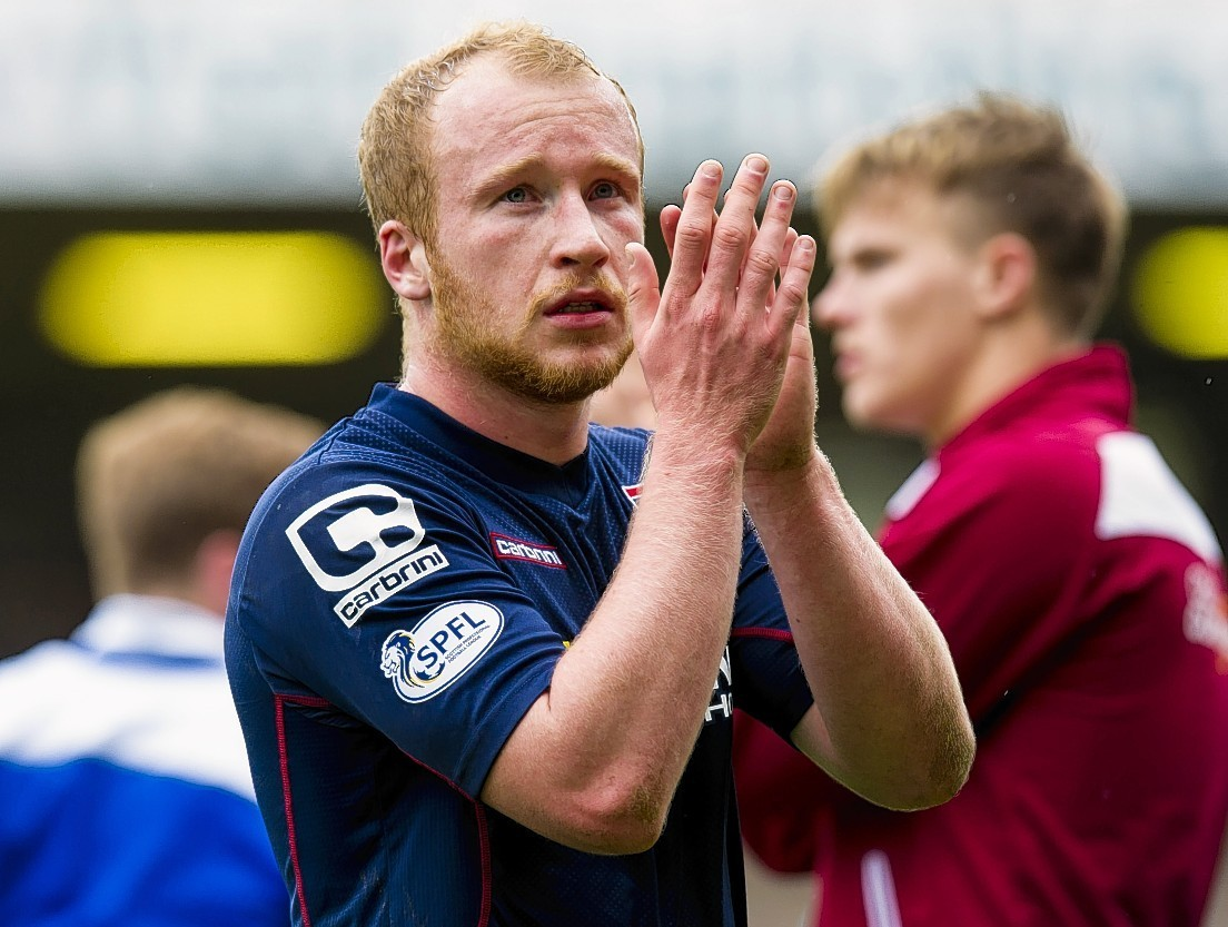 Liam Boyce headed home Ross County's fourth goal.