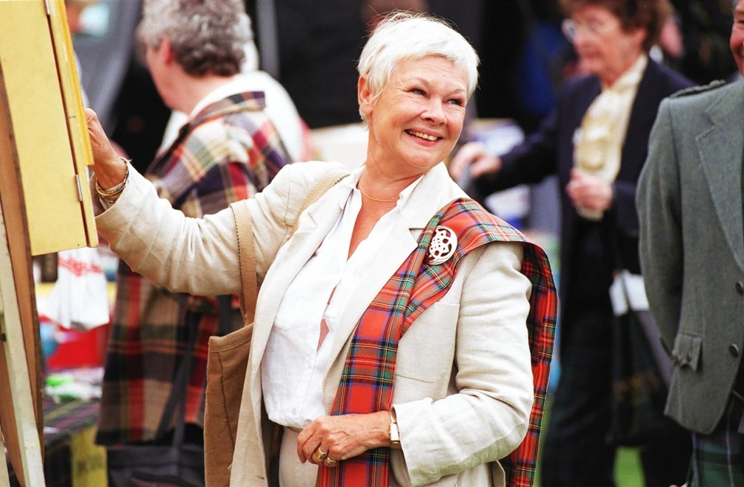 Dame Judi Dench at the Lonach Gathering