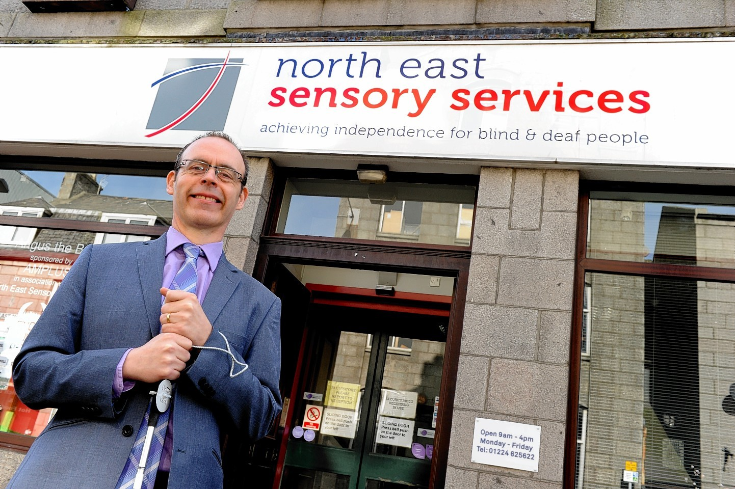 Graham Findlay of North East Sensory Services.