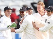 James Anderson, second from left, enjoyed a successful day at Headingley