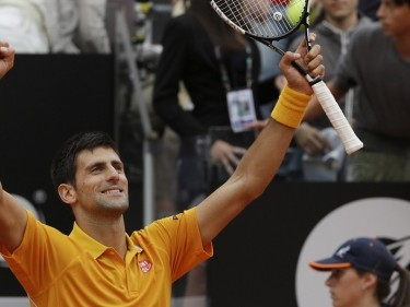 Novak Djokovic is through to the Italian Open final (AP)