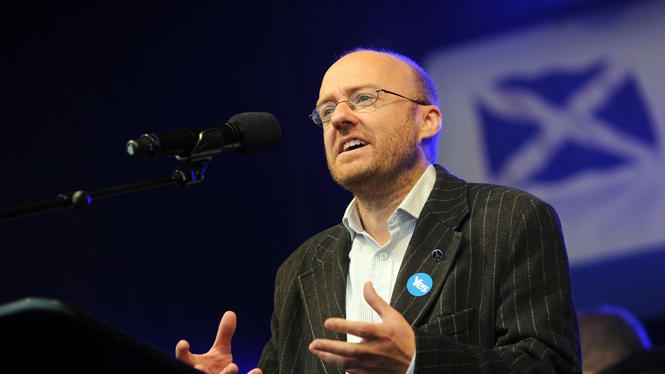 Scottish Green party leader Patrick Harvie