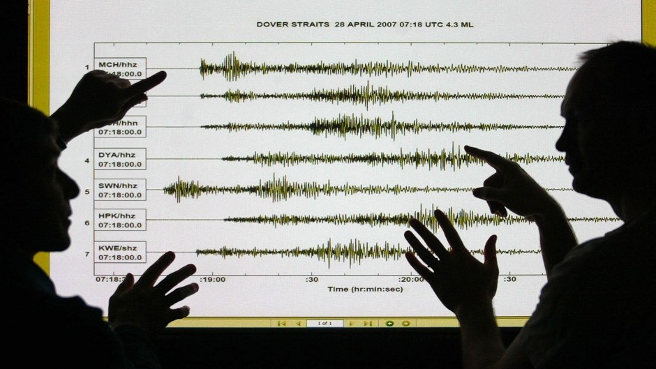 An earthquake has been recorded in the Highlands
