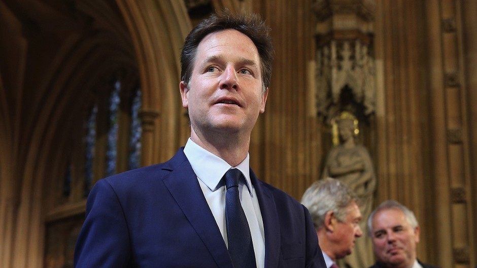 "Former Liberal Democrat leader and former Deputy Prime Minister Nick Clegg had suggested there was now a ""compelling case"" for independence"
