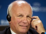 Greg Dyke, pictured, would be 'very surprised' if Sepp Blatter was still FIFA president in two years