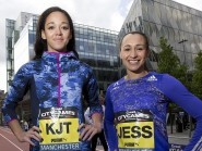 Katarina Johnson-Thompson, left, and Jessica Ennis-Hill are both doubts for the heptathlon in Gotzis at the end of May