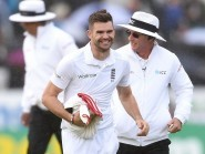 James Anderson reached a landmark on day one at Headingley