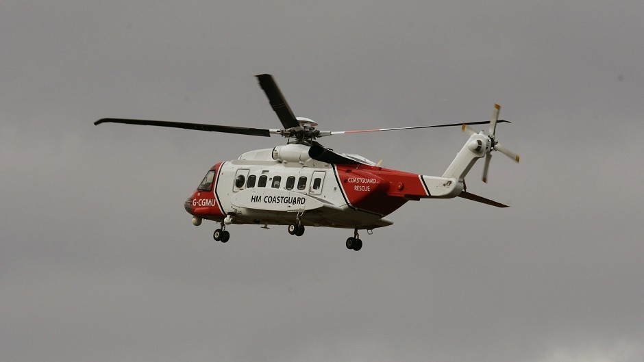 Sumburgh Coastguard helicopter was sent to collect the ill man