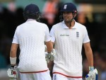 Alastair Cook, right, and Joe Root shared an unbroken century stand at Lord's