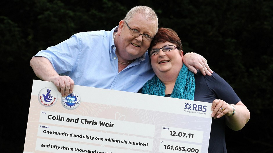 Chris and Colin Weir are among Scotland's newest millionaires after they won £161million on the Euro Millions lottery in 2013