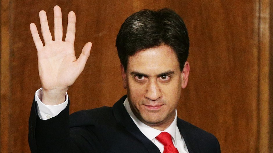 Ed Miliband at George Street in London as he resigned as leader of the Labour Party