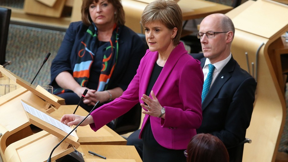 """Nicola Sturgeon said that in the wake of the election result, David Cameron must agree to extend devolution """"even further"""""""
