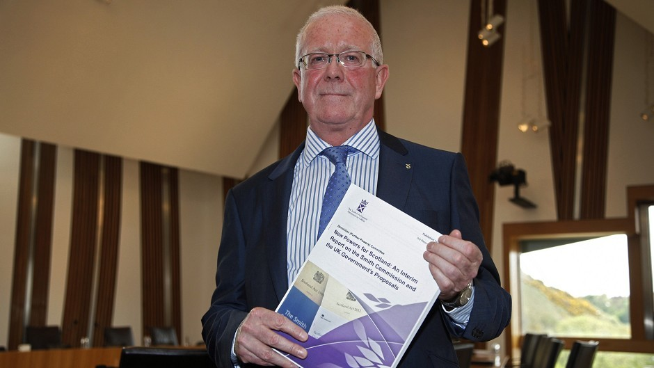 Bruce Crawford MSP, convener of the Devolution and Further Powers Committee, launches an interim report on proposed new powers for the Scottish Parliament (Scottish Parliament/PA)