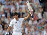 Alastair Cook ended his long run without a Test century but was dismissed late on