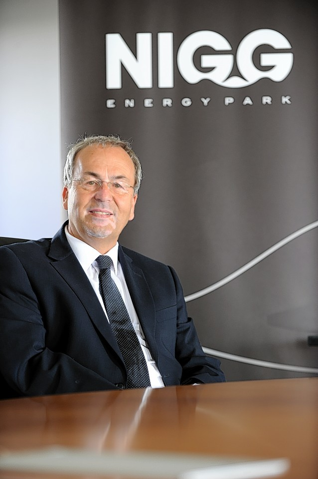 Chairman of Global Energy, Roy MacGregor, at the Nigg Energy Park