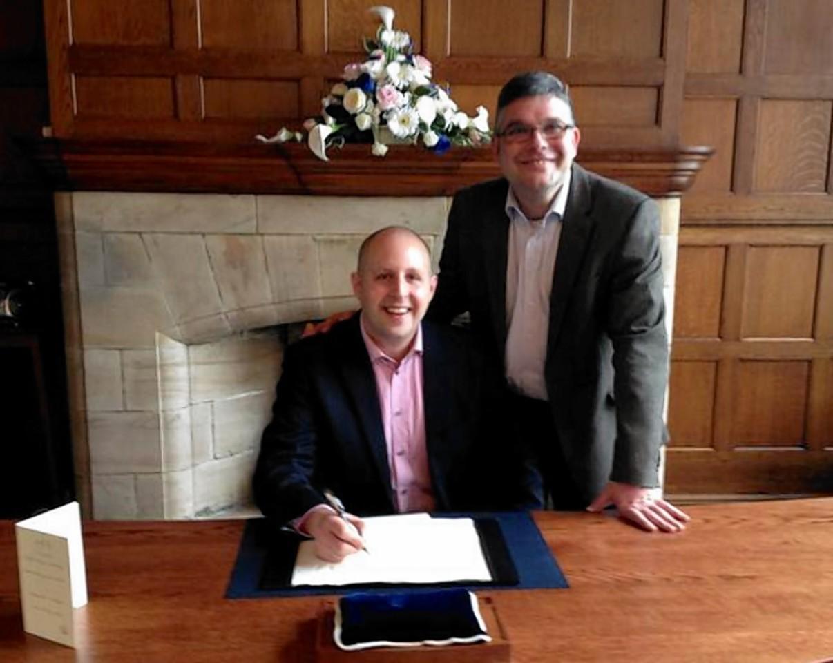 Rev Scott Rennie and his partner Dr David Smith